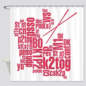 K.A. Pink Shower Curtain