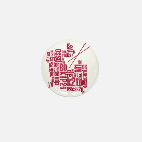 K.A. Pink Mini Button