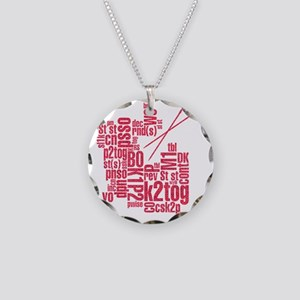 K.A. Pink Necklace Circle Charm