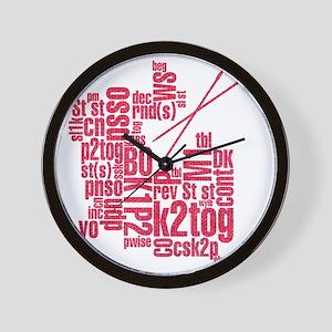 K.A. Pink Wall Clock