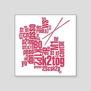 "K.A. Pink Square Sticker 3"" x 3"""