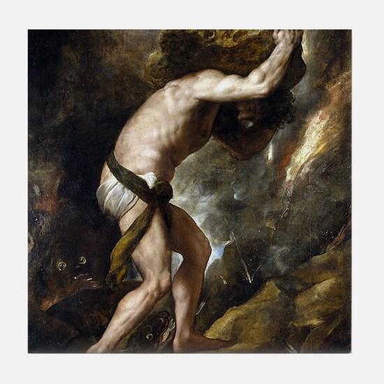 Sisyphus - Titian - c1549 Tile Coaster
