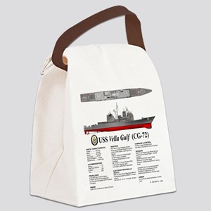 USS Vella Gulf CG-72 Canvas Lunch Bag