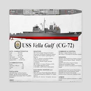 USS Vella Gulf CG-72 Queen Duvet