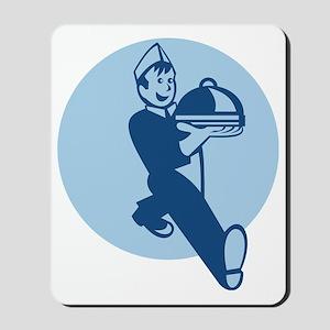Waiter Cook Chef Baker Serving Food Mousepad