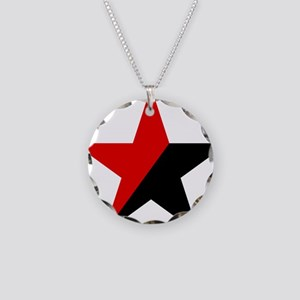 Star Necklace Circle Charm