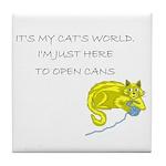 Cat's World Tile Coaster