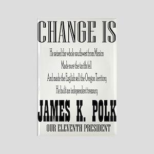 Change is James K. Polk Rectangle Magnet