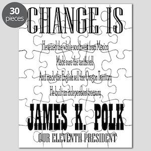 Change is James K. Polk Puzzle