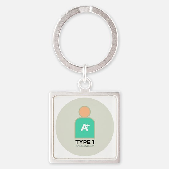 1-Perfectionist With Number Square Keychain