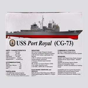 USS Port Royal CG-73 Throw Blanket