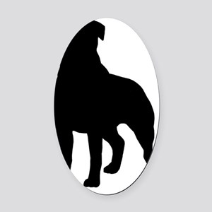 rottieblk Oval Car Magnet