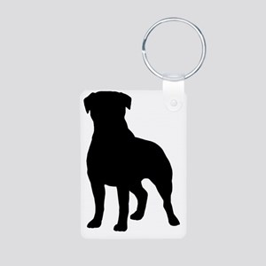 rottieblk Aluminum Photo Keychain