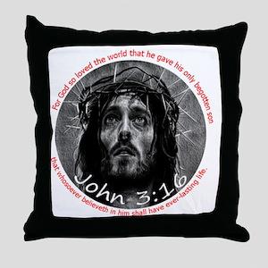 John 3:16 Crown of Thorns 6x6 Throw Pillow