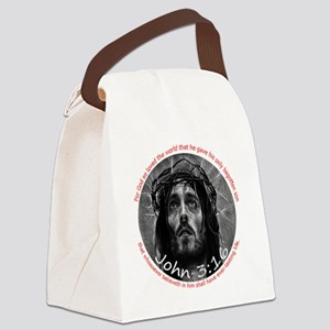 John 3:16 Crown of Thorns 6x6 Canvas Lunch Bag