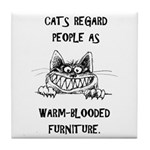 Cat's Opinion Tile Coaster
