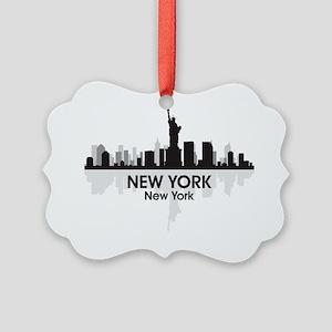 New York Skyline Picture Ornament