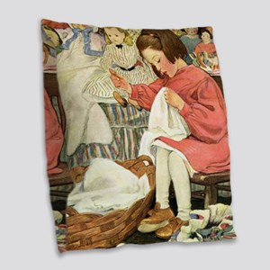 A Childs Book-Sewing_SQ Burlap Throw Pillow