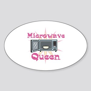 Microwave Queen Oval Sticker