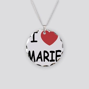 I heart MARIE Necklace Circle Charm