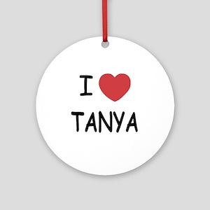 I heart TANYA Round Ornament