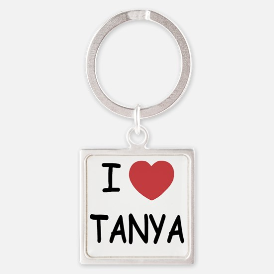 I heart TANYA Square Keychain