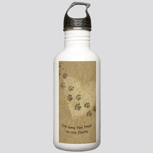 Paw Prints on our Hear Stainless Water Bottle 1.0L