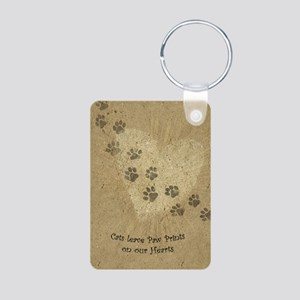 Paw Prints on our Hearts Aluminum Photo Keychain