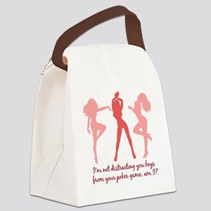 Poker Distraction (light) Canvas Lunch Bag