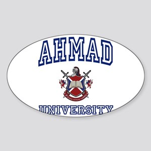 AHMAD University Oval Sticker