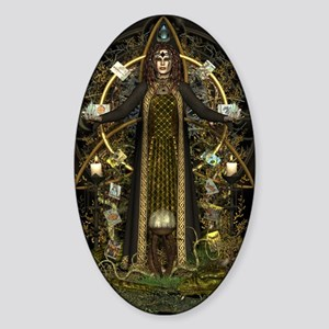 Witch of the Tarot Sticker (Oval)