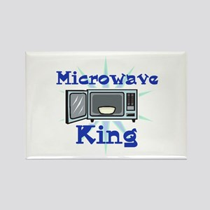Microwave King Design Rectangle Magnet