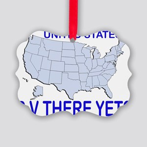 RV There Yet? US Picture Ornament