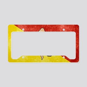 Sicily Flag License Plate Holder