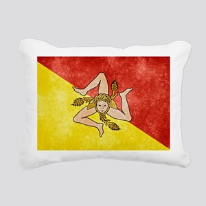 Sicily Flag Rectangular Canvas Pillow