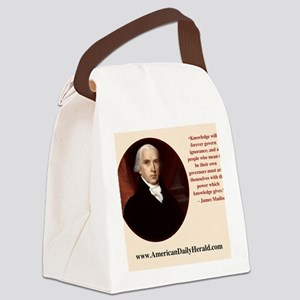 ADH James Madison Mousepad (Lt.) Canvas Lunch Bag