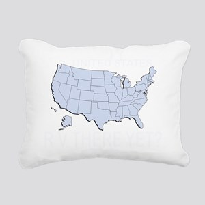 RV There Yet? US Rectangular Canvas Pillow