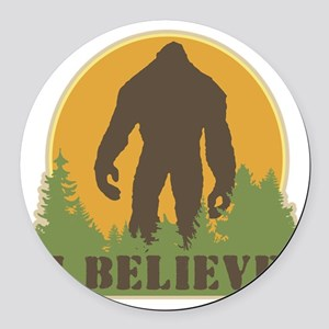 I Believe Round Car Magnet