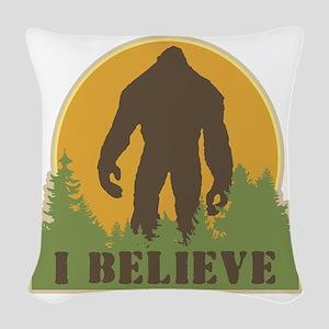 I Believe Woven Throw Pillow