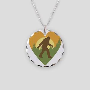 Bigfoot Love Necklace Circle Charm