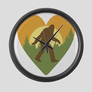 Bigfoot Love Large Wall Clock