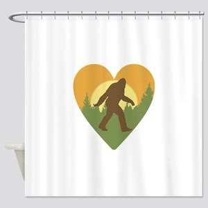 Bigfoot Love Shower Curtain