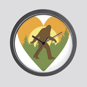 Bigfoot Love Wall Clock