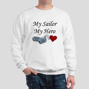 Navy Sailor Hero Dog Tags Sweatshirt