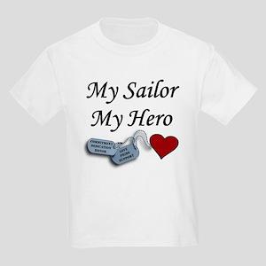 Navy Sailor Hero Dog Tags Kids T-Shirt