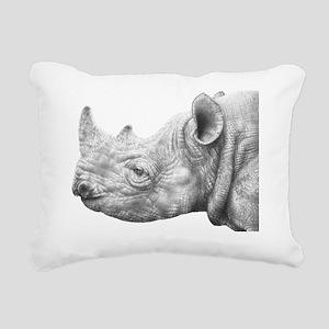 Black Rhino Large Wall C Rectangular Canvas Pillow