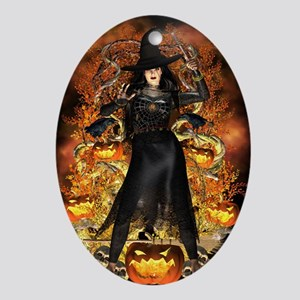 Halloween Witch Oval Ornament