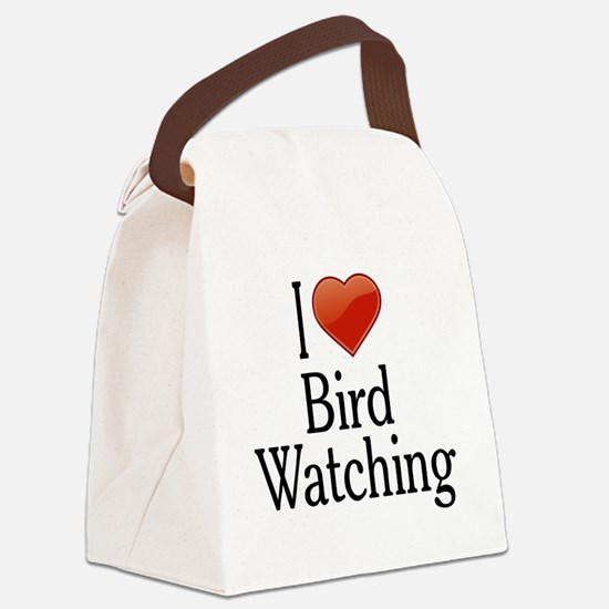 I Love Bird Watching Canvas Lunch Bag