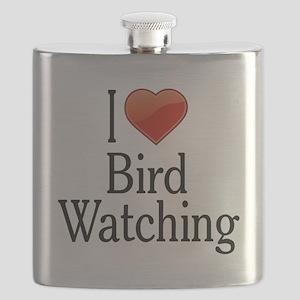 I Love Bird Watching Flask