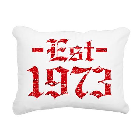 Established in 1973 Rectangular Canvas Pillow